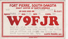 QSL card Fort Pierre South Dakota USA 1935 Scheda Radio Radio w9fjr (80499
