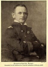 """Posizionamenti Karl agosto Nerger comandante del kaperfahrers """"Wolf"""" 1918 ww1"""