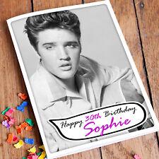 ELVIS PRESLEY Personalised Birthday Card | Rock n Roll King Grandad Mother Son