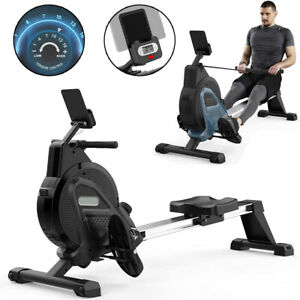 Exercise Rowing Machine Magnetic 16 Resistance Cardio Workout Home Fitness Gym