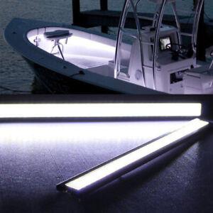 Pair of 17cm Bright White Boat Marine Grade Large 12 Volt LED Courtesy Lights