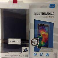 "Case-Mate Black Stand Folio Case Cover Samsung Galaxy ""Mega 2""+Bodyguardz Screen"