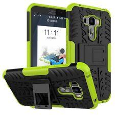 Für ASUS Zenfone 3 ZS570KL 5.7 Hybrid Case 2teilig Outdoor Grün Tasche Hülle Neu