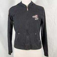 Womens Harley Davidson 105th Anniversary Black Full Zip Hooded Sweatshirt - XL
