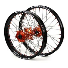 NEW SM Pro MX KTM EXC/EXC-F 03-19 Black/Orange Platinum Motocross Wheel Set