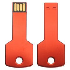 64GB USB 2.0 Red Flash Drive Métal Clé Shape Pen Drive Card Mémoire Bâton OTG