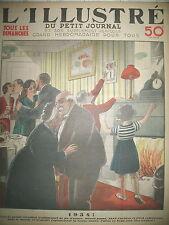 TRADITION JOUR DE L'AN REVEILLON MINUIT LES BONS VOEUX LE PETIT JOURNAL 1933