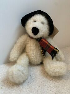 """BU 10"""" Topper Bears From The Past Cream Bear With Hat And Scarf"""