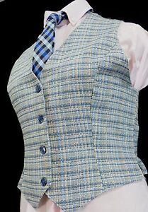Reed Hill Ladies Saddleseat Vest LAKE BLUE TWEED Polyester Blend - USA