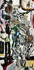 BELLIES AND HEARTS Abstract Collage Man Painting - Steven Tannenbaum Tao-E