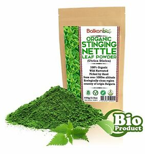 Stinging Nettle Leaf Powder - 100% Organic Wild harvested Pure Urtica dioica TOP