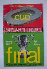 Orig.PRG   ENGLAND  League Cup  FINALE 1969  ARSENAL LONDON - SWINDON TOWN ! TOP