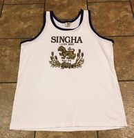 SINGHA LAGER Thailand Thai Beer TANK TOP SHIRT Size Men XXL Brewery Summer Beach
