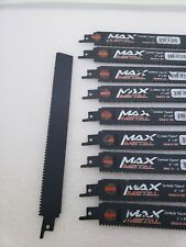 Itm Max Metal Carbide Tipped 6x8t Lot Of 10 Blades Reciprocating Saw