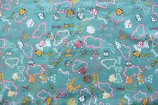 SALE Marie Jacobi Yuwa Trip To Wonderland Blue Green Japanese Fabric Half Yard
