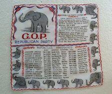 Vintage Unique & Rare Political Collectible - GOP Republican Party Handkerchief