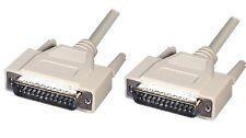 2 m Straight Through DB25 Serial Parallel cable DB25M - DB25M 2m