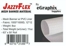 Mesh Banner Material W Liner 1000x1000 White 63 In X 50 Ft Roll