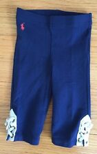 Ralph Lauren Leggings/ Pants Blue Baby Girl Size 6 Months Blue With White Laces