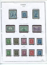Canada On Album Pages In Mounts-Most Nh-1947-1954!
