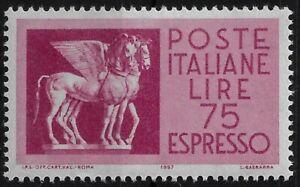1958 italia repubblica Espressi Stelle Cavalli L.75