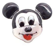 Zuni Handmade Sterling Silver Multi-Stone Inlay Mickey Mouse Ring Sz 7- Don Dewa