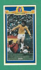 FOOTBALL - FOSTERS LAGER - SPORTING GREATS - CARD NO. 6 - ZICO - 1995