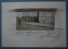 "J-P ETIENNE  - Dessin/Photo    "" COMPOSITION  URBAINE""  Signé"