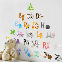 Animal Alphabets Removable Wall Stickers Kids Nursery Decor Vinyl Decal Mural