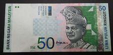 MALAYSIA 10TH RM50 ZA3363058 REPLACEMENT GEF