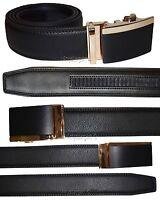 "Men's belt, 38"" Genuine Leather Dress Belt, Automatic Lock buckle New Black belt"