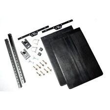 EVO Manufacturing 1119B Quick Release Mudflap Kit Black Fits 07-15 Wrangler JK