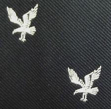 Air force regimental tie EAGLE emblem black and white Terylene Crimplene BIRD