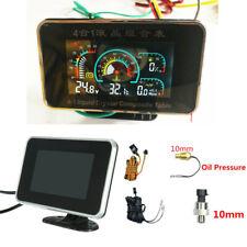Integrated Voltmeter /Oil Pressure/Fuel/Water Temp Gauges Flashing Alarm 12-24v
