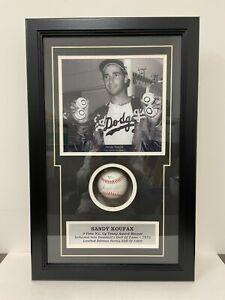 Sandy Koufax auto signed baseball 4 Career No Hitter Photo Shadowbox HOF LTD ED