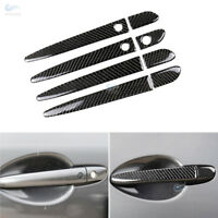 Real Carbon Fiber Door Handle Cover/Smart Keyhole For Mazda 2/3/6/ CX5 Mazda3 M6