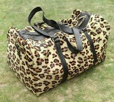 Leopard Printed Duffel Bag Cheetah Style Duffle Overnight Sports Gym Hiking Bags