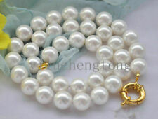 Natural 8mm White South Akoya Shell Pearl Necklace AAA 18""