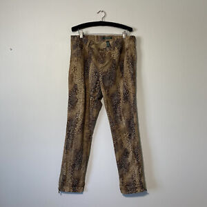 Size 10 Womans RALPH LAUREN Snakeskin Print Tapered Zip Ankle Pants