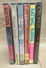 Criterion DVD lot - 6 darker films - Cronos, Naked Lunch, Sisters, & more!