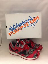 Size 9 Men's REEBOK PUMP RUNNING DUAL STASH X RED GRY STEL V61566 Signed Box!!