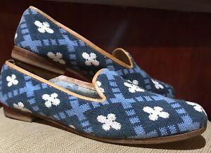 Stubbs & Wootton Palm Beach Needlepoint Loafer Slip On Womens Size 9.5 AA US