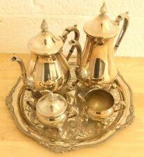Vintage Viners Silver Plate Tea Service Tray Teapot Jugs Sugar Bowl (Hospiscare)
