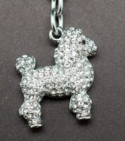 Poodle Key Chain Made With Clear Swarovski Crystals