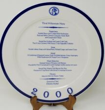Third St Pier - Third Millennium Menu Plate - 2000 Homer Laughlin