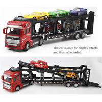 1:48 Truck Tractor Trailer Alloy Diecast Model Car Transporter Vehicle Kids Toy
