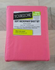 Your Zone Microfiber Wrinkle Resistant Sheet Set - Pink, Twin/Twin XL