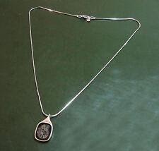 Schöne 925er Design-SILBERKETTE m. AMMONITEN-Anhänger • Fossil Schlangenkette