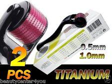 (540 Needles) Micro Needle Skin Roller Black Kit 0.5&1.0 mm,Derma Wrinkles,Scars