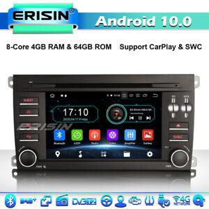 8-Core Android 10.0 Car Stereo DVD GPS Sat Nav Porsche Cayenne DAB+4G BT CarPlay